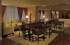 The Ritz-Carlton, Atlanta Club Lounge offers stunning views including SkyView Atlanta, downtown's new Ferris Wheel.