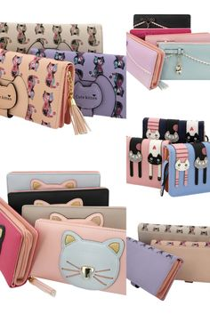 cute cat themed purses - various styles and colours available