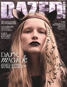Dark Magick. Katrin Thormann. Pic: Mariano Vivanco. Dazed August 2008.