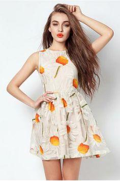 Sunflower Embroidery Dress