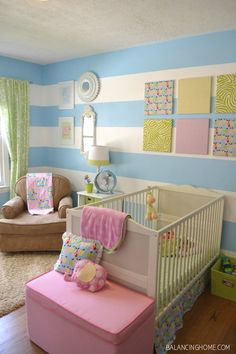 How to Paint Stripes ... looks easy ... by Megan from balancinghome ... at…