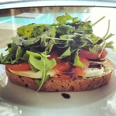 Pin for Later: Open-Faced Sandwich Ideas to Help You Cut Calories Hummus and Veg
