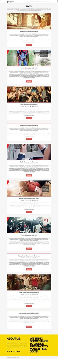 Blog - Creative, clean, modern web design blog example of superior WordPress theme.