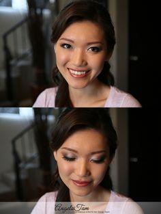 Makeup and Hair: Angela Tam Asian Makeup Prom, Asian Makeup Looks, Pageant Makeup, Asian Bridal Makeup, Korean Makeup, Eye Makeup Designs, Hair Designs, Bride Makeup Natural, Celebrity Wedding Makeup