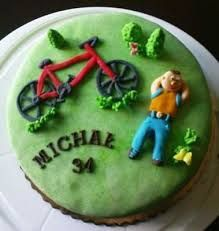 Znalezione obrazy dla zapytania torty urodzinowe z rowerem