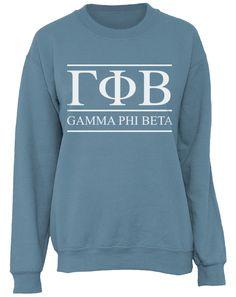 Gamma Phi Beta Letters Sweatshirt by Adam Block Design | Custom Greek Apparel & Sorority Clothes | www.adamblockdesign.com