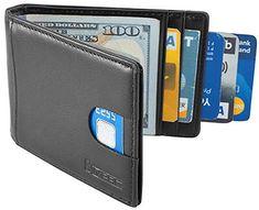 f842ed80d4ac Simpax RFID Genuine Leather Thin Minimalist Credit Card Wallet Best Leather  Wallet, Best Wallet,