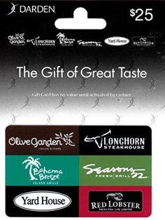 Amazon.com: Darden Restaurants $25 Gift Card: Gift Cards
