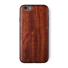 """iATO iPhone 6 / 6S Wood Case 'Cartier'. Real Wooden Overlay on Slim Black PC. Natural Genuine Wooden Cover as Premium Accessories for the Original Apple Cell Phone 6S/6 (4.7"""") - Rose Wood. *****[[[ BUYERS BEWARE ]]] ***** THIS VARIATION HAS BEEN DISCONTINUED by iATO International. *****[[[ BUYERS BEWARE ]]] ***** ALL THE SELLERS SELLING THIS VARIATION ARE DODGY SELLERS. *****[[[ BUYERS BEWARE ]]] ***** ONLY iATO International North America sells the genuine iATO products on…"""