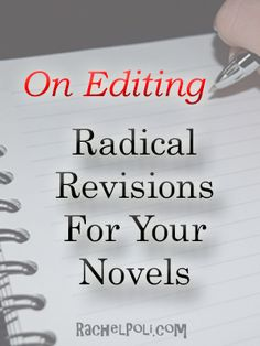 Radical revision is a term to revise or rewrite your current draft. It's a tool to help your reimagine your story. This is a method I learned in school when I was working on my English degree…