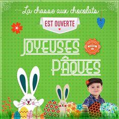 La chasse aux oeufs de Pâques et autres chocolats délicieux est ouverte à La Boulangerie Mas Saint Pierre. Création d'une affiche format carré pour annoncer l'évènement. #CommunityManagement #Pâques2015 #graphisme