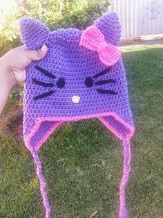 Purple Hello Kitty Beanie