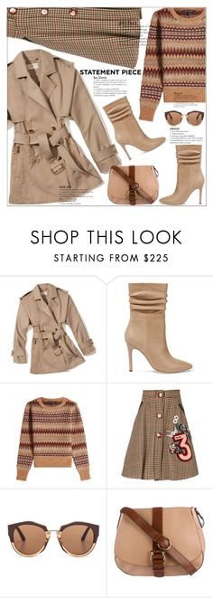 """(TFS)Statement Coats  #2915"" by shoaleh-nia ❤ liked on Polyvore featuring MICHAEL Michael Kors, Halston Heritage, Marc Jacobs, Miu Miu, Marni and Salvatore Ferragamo"