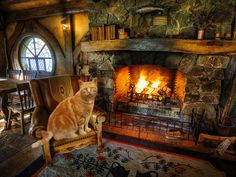 Cabin homes log homes tiny homes cozy cabin cozy house winter c Cozy Cabin, Cozy Cottage, Cozy House, Winter Cabin, Cozy Winter, Winter Night, Cabin Fireplace, Rustic Fireplaces, Fall Fireplace