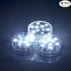 Weanas 4x Submersible Lights Candles White Multi Color 10 LED with Remote Control