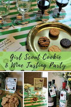 Do-si-dos & Merlot: Girl Scout Cookie & Wine Pairing Party Wine Cookies, Gs Cookies, Wine Tasting Party, Wine Parties, Different Types Of Wine, Wine Deals, Thin Mints, Cooking Wine, Wine Food