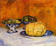 Still Life with Melon - Pierre-Auguste Renoir 1882