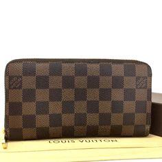 bb052e28bb3e 100% Authentic Louis Vuitton Damier Zippy Zip Around Long Wallet purse   u206  fashion