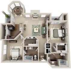 Plan D # Wohnungsumriss # Wohnungsgrundrisse Plan D # Wohnungsumriss , Sims 4 House Plans, House Layout Plans, Floor Plan Layout, Small House Plans, House Layouts, House Floor Plans, Sims 4 Houses Layout, Sims 4 House Design, Espace Design