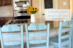 A Chalk Paint Review & FAQ + a Kitchen Stools Makeover! Curious about chalk paint?  Come read all about it!  #chalkpaint #furniturediy #simplykierste