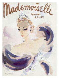 Mademoiselle Cover - November 1936 Giclee Print by Helen Jameson Hall at Art.com