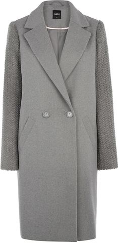Womens grey coat from Oasis - £100 at ClothingByColour.com