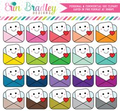 Happy Mail Clipart – Erin Bradley/Ink Obsession Designs