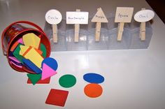 Sorting Shapes #tottrays from The Princess and the Tot