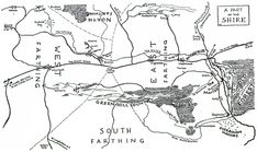 Map of the Shire | by J.R.R. Tolkien
