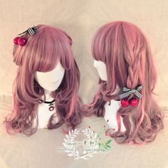 ● Su and ● Japanese AOM within volume Harajuku wind lolita pink the Gradient girl long curly hair daily wig - Taobao $12.70