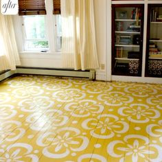 Pretty floral wood floors