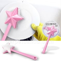 You might as well be making some wishes come true while you wash dishes ...  Dish Wish Scrub Brush $8.99 from PerpetualKid.com (FYI: see upper left corner of their site for a coupon code).