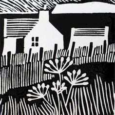 The prints are all hand printed linocuts using waterbased black printing ink. Mounted prints are £35 each. Postage and packing are extra and will be charged at cost. The size shown (width x height) is the image size to the nearest centimetre.