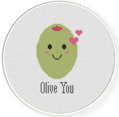 FREE for April 8th 2014 Only - Olive You Cross Stitch Pattern