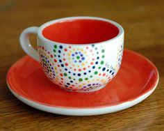 easy to paint - cup and saucer set
