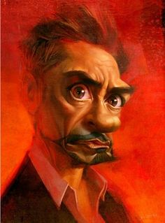 Robert Downey Jr. [illustration of Xi Ding] #Caricature #FunnyFaces .  For more great pins go to @KaseyBelleFox