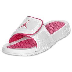 NIKE Girls' Preschool Jordan Hydro 2 Slide Sandals Shoe, White/Vivid Pink - http://shoes.goshopinterest.com/girls/sandals-girls/nike-girls-preschool-jordan-hydro-2-slide-sandals-shoe-whitevivid-pink/