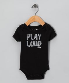 Take a look at this Black 'Play Loud' Bodysuit - Infant by Hurley on #zulily today!