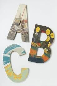 DIY hand painted still life monogram need printer fabric paper-mod podge-papier mache letters & pdf from here or make on picmonkey