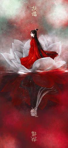Illustration Design Graphique, Art Graphique, Illustration Art, Chinese Drawings, Art Watercolor, Beautiful Fantasy Art, China Art, Red Art, Pretty Art