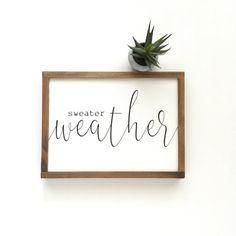 Winter Home Decor, Winter House, Sweater Weather, Handmade Home Decor, Diy Home Decor, Marvin, Fall Signs, Fall Decor Signs, Fall Wood Signs