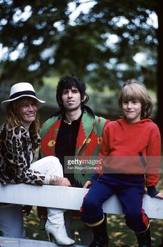 Musician Keith Richards of the Rolling Stones, Anita Pallenberg and son Marlon are photographed at home in 1977 in Weston, Connecticut.
