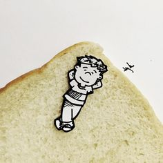 Bread beds are soo comfy! #snackadoodle #doodle #doodleaday #doodlelife #doodleobjects #doodlebyjaykee #draw #illustration #fun #food #bread #penandpaper #designlife #citylife #myart #itsgreattocreate #instagood #instaart #gardenia  For more snackadoodles check out  snackadoodles.tumblr.com facebook.com/snackadoodles #snackadoodle