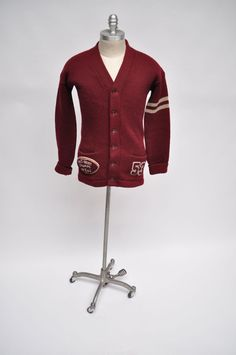 vintage sweater collegiate letterman 1950s by goodbyeheart on Etsy, $195.00
