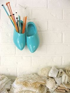 a fun re-purpose for the clogs I picked up in Amsterdam (and I love this colour too)