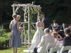 white birch wedding arch - Google Search