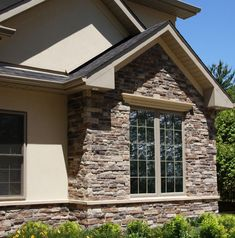 Home Exterior Entrance Bucks County Country Ledgestone Cultured Stone Brand Manufactured
