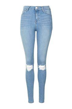 MOTO Bleach Rip Jamie Jeans - Topshop