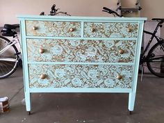 Use lace as a template. Place lsce over desired furniture and paint.
