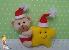 Ursinho e estrela em feltro